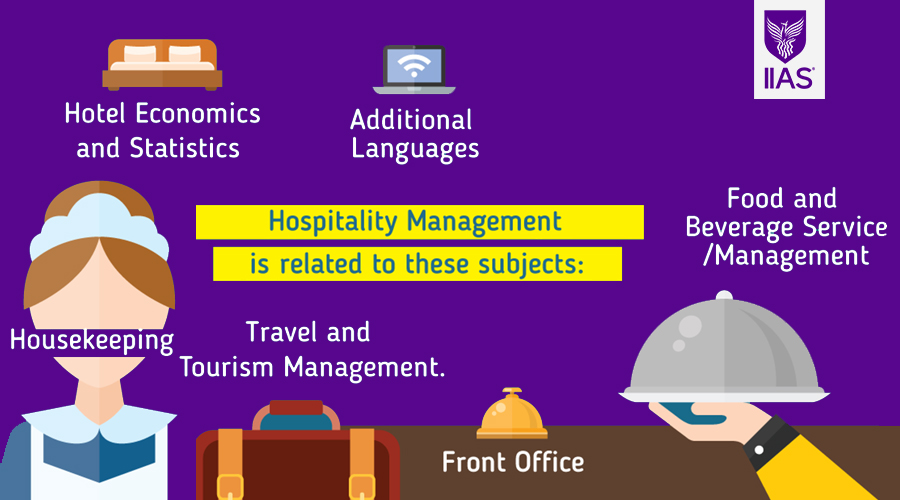 subjects are needed for hospitality management